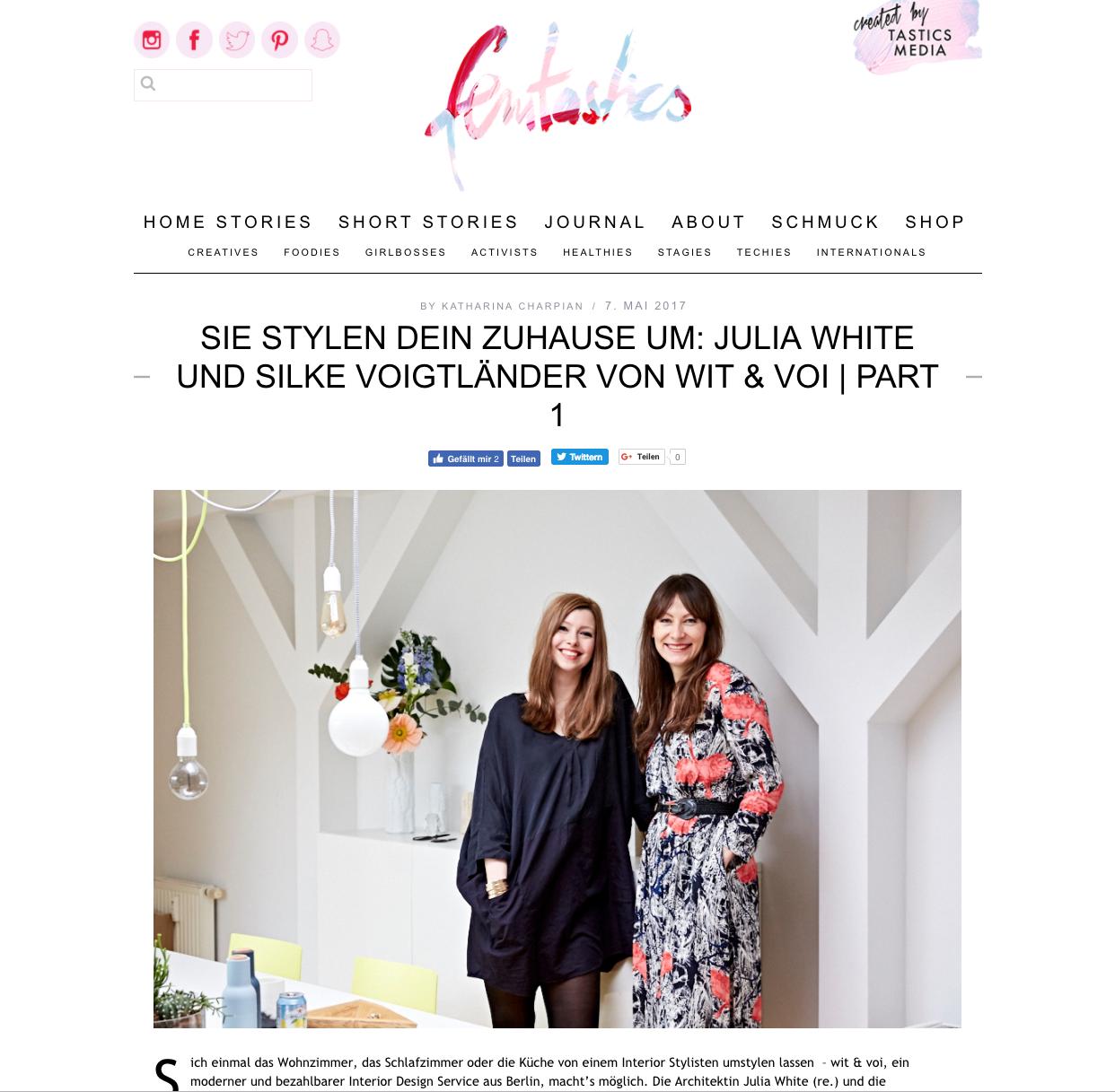 Femtastics - Sie stylen dein Zuhause um: Julia White & Silke Voigtländer von wit & voi  | PART 1