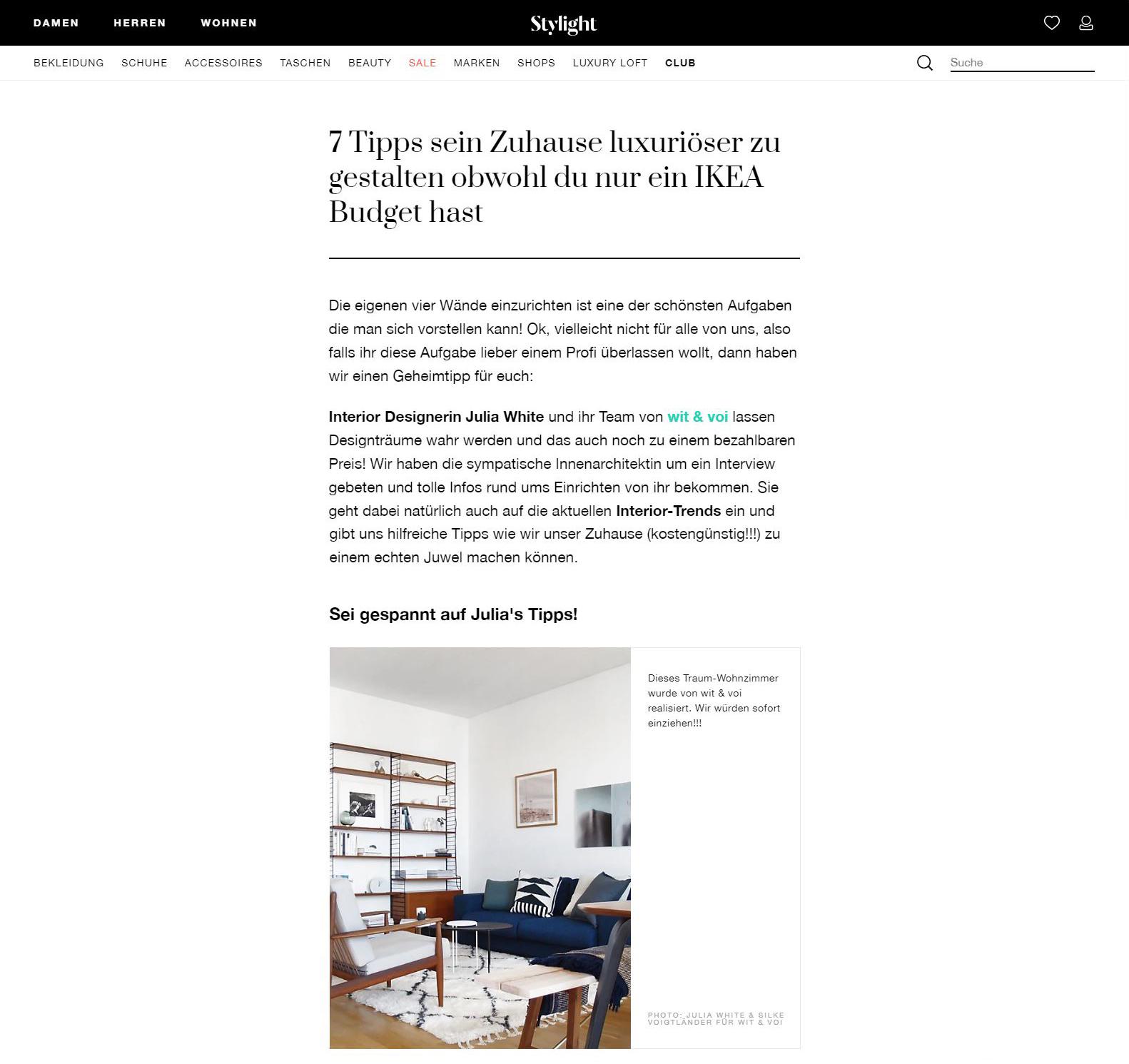 Stylight Interview - 7 Tipps sein Zuhause luxuriöser zu gestalten