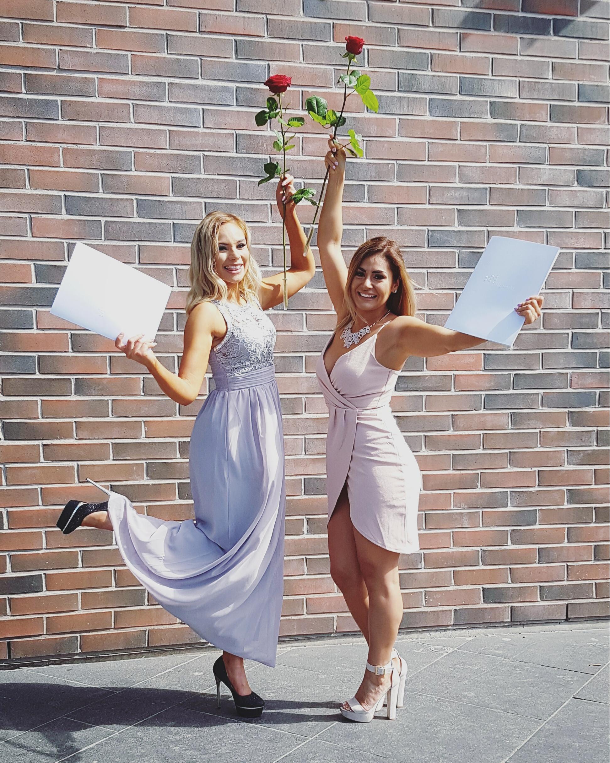 Myös ystäväni Mariela valmistui samassa Haaga-Helian valmistujaistilaisuudessa, mutta eri alalta.