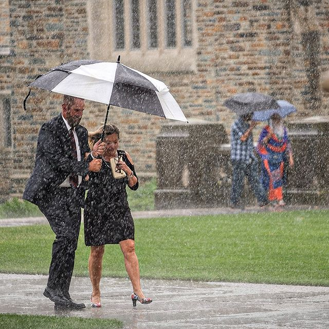 There's good news and bad news.  The bad news is that it does rain sometimes.  The good news is that inside @dukechapel is gorgeous and dry.⁠ ⁠ #winning @washingtondukeinn #dukechapelwedding  #ncweddingphotographer #weddinginspiration #charlestonweddingphotographer #raleighweddingphotographer #weddings #accessorytomarriage