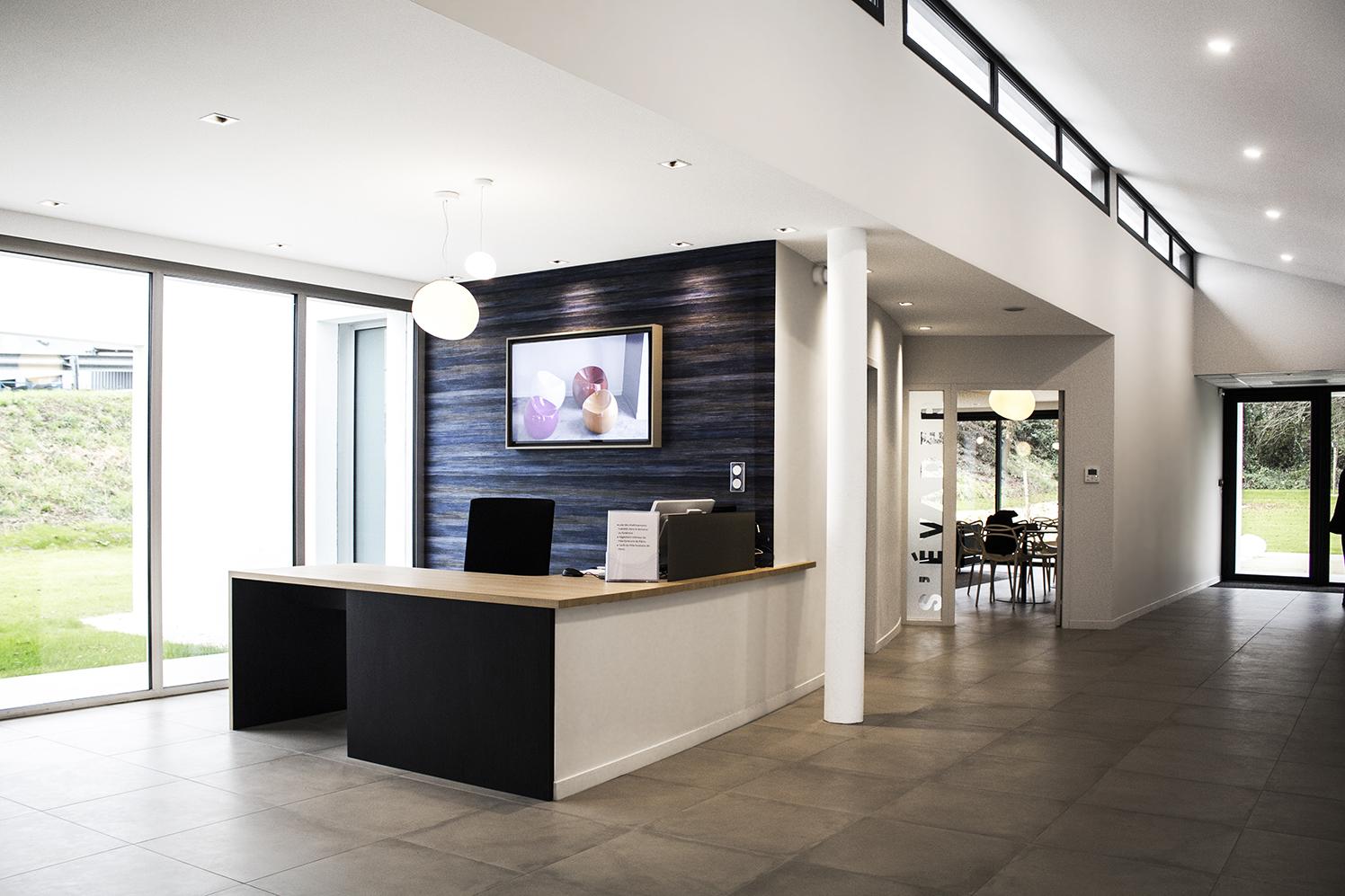 PLÉRIN - Pompes Funèbres des communes associées - En collaboration avec l'agence Bucaille & Wiener (gros oeuvre) - SURFACE : 380 m2 - Maître d'ouvrage : Professionnel