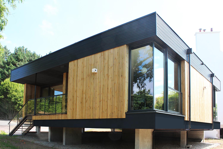 LORIENT - Extension et réhabilitation d'une maison bourgeoise (cabinet d'avocat) - En collaboration avec l'agence Bucaille et Wiener) - SURFACE : 250 m2 - Maître d'ouvrage : Professionnel