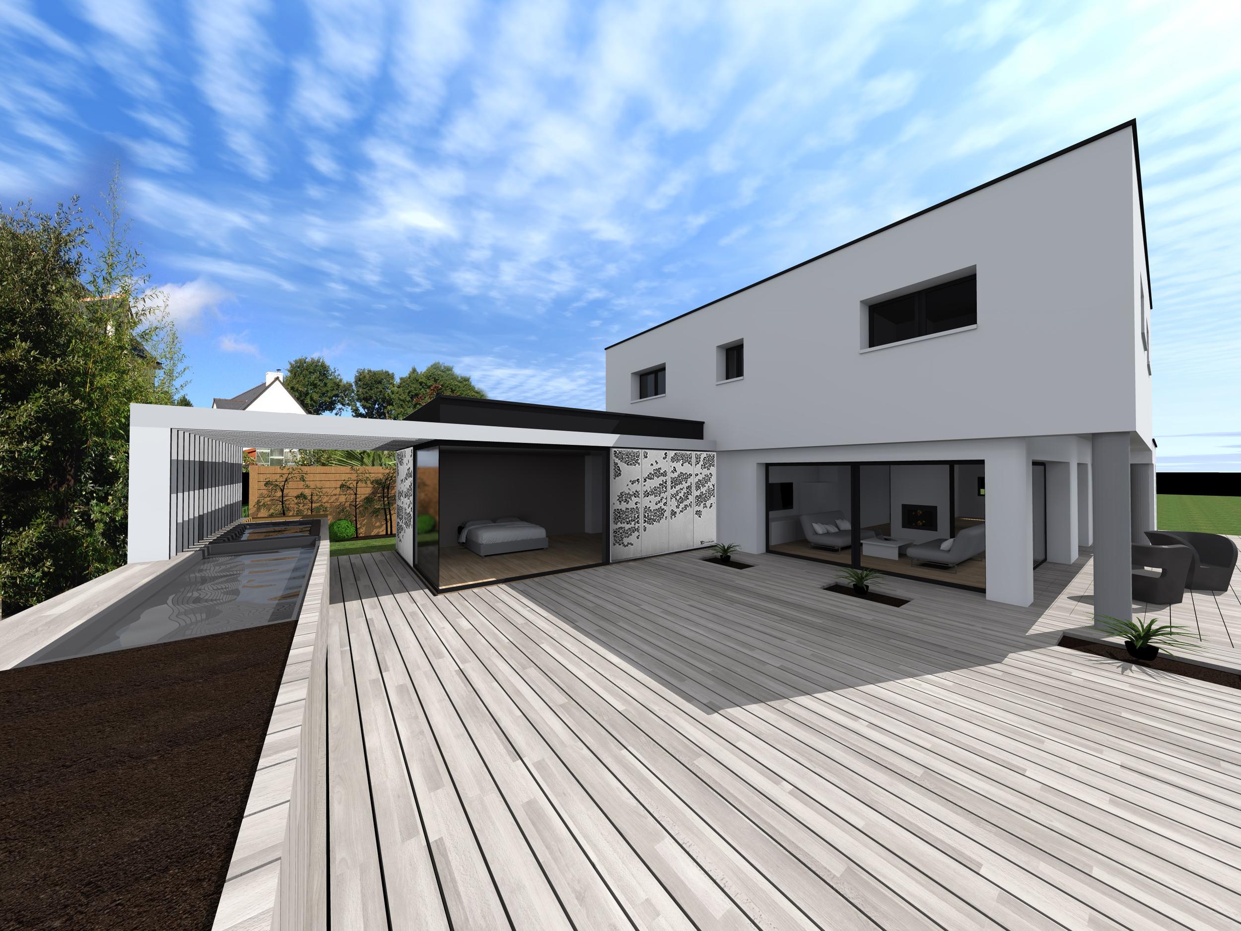 LEHON - Projet extension et aménagement extérieur