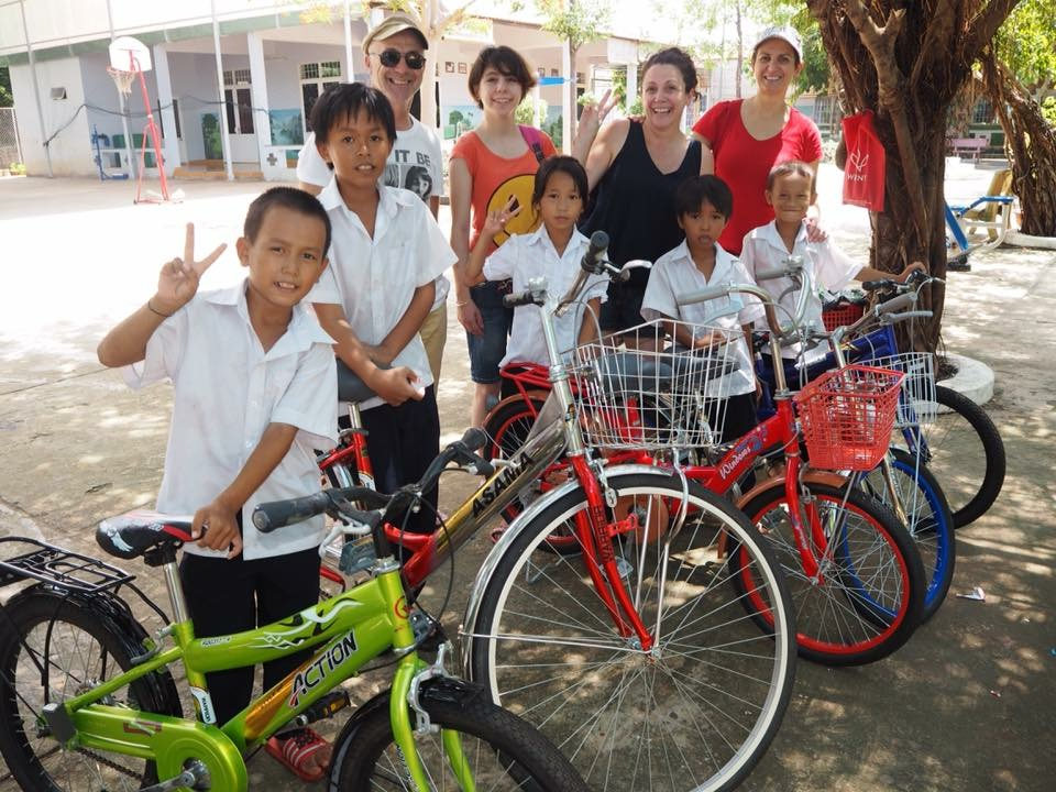 Our first 5 bikes which kick started our project pushbike on our last visit in 2015 read about it  here