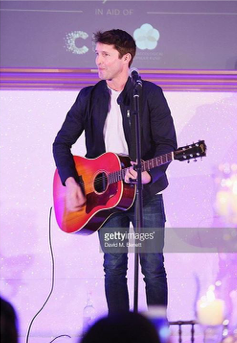 James Blunt performing at the Lady Garden Gala