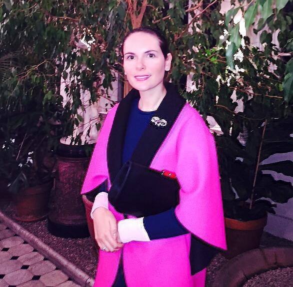 Elena Shchukina at Russian Ambassador residence