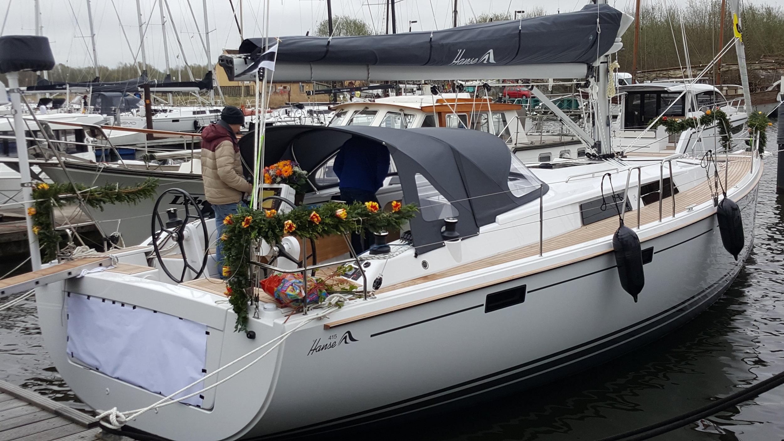 Ny Hanse 415 klar for dåp i Greifswald