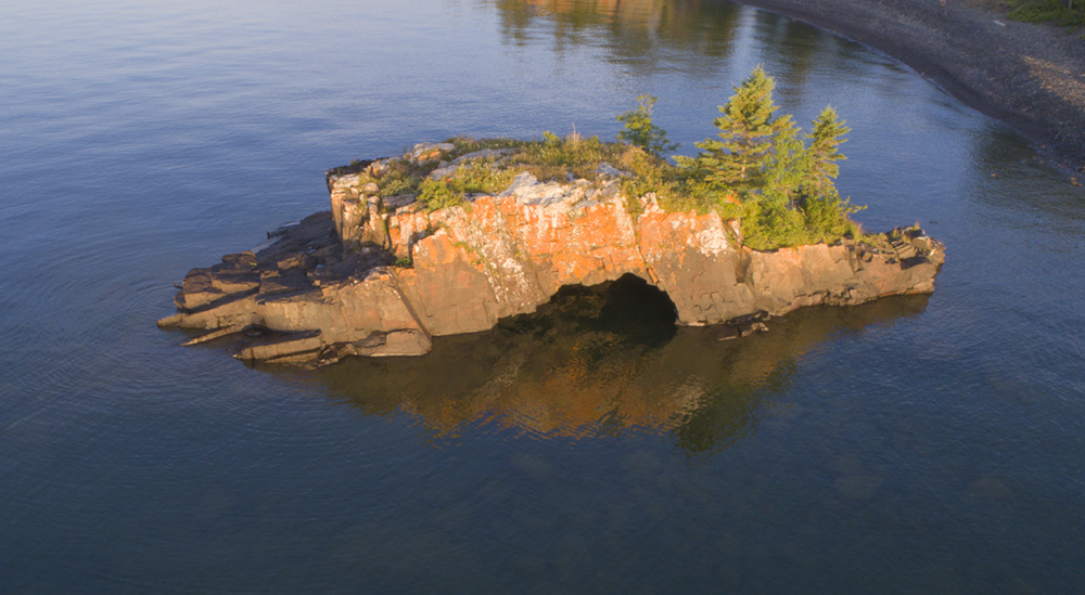 Hollow Rock, drone image.