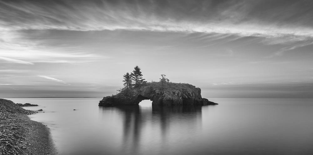 Hollow Rock at dawn.