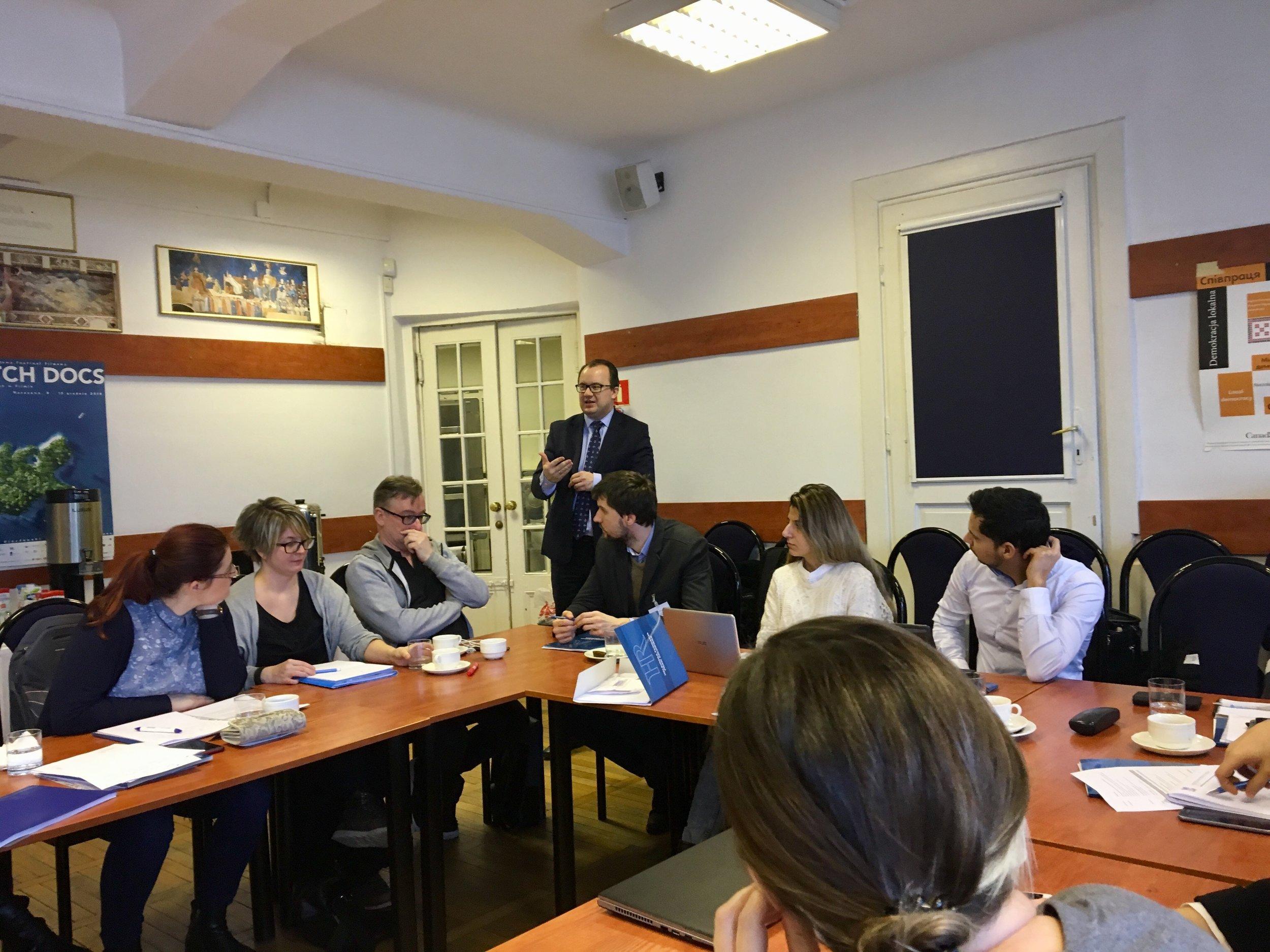 Discussion with Adam Bodnar, Polish Ombudsman. Photo: EIN