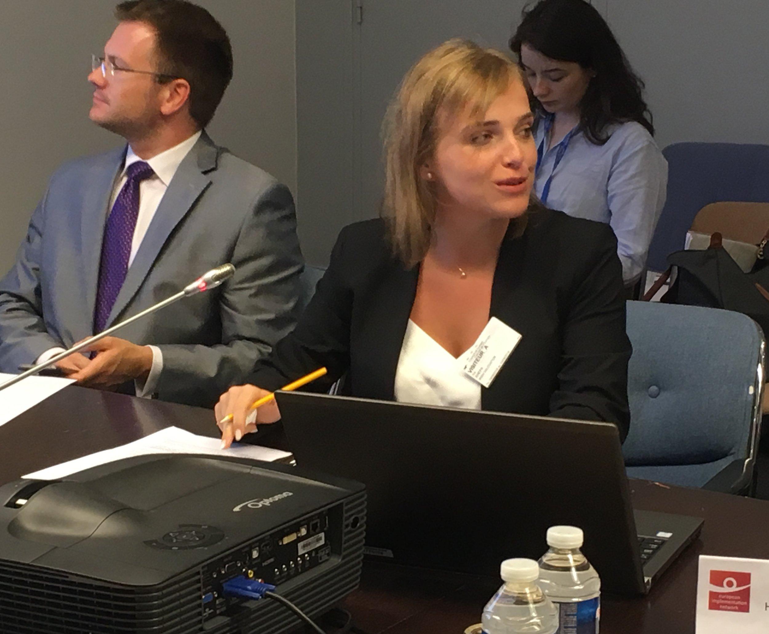 Ina Xhepa, Director of the European Centre, Albania. Photo: EIN