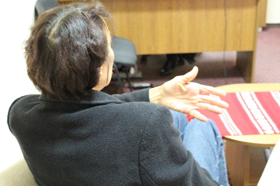Legal empowerment by WLC of a victim of domestic violence. Photo: Diana Pinzari, Communications Specialist, Women's Law Centre