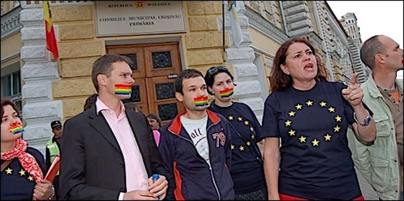 Reality check - In reality, there was still a huge problem with LGBT assembly in Moldova. Marches kept getting banned. Those that did go ahead had to be abandoned due to the threat of violence and the absence of police protection. The government was wrong: public demonstrations were still impossible.