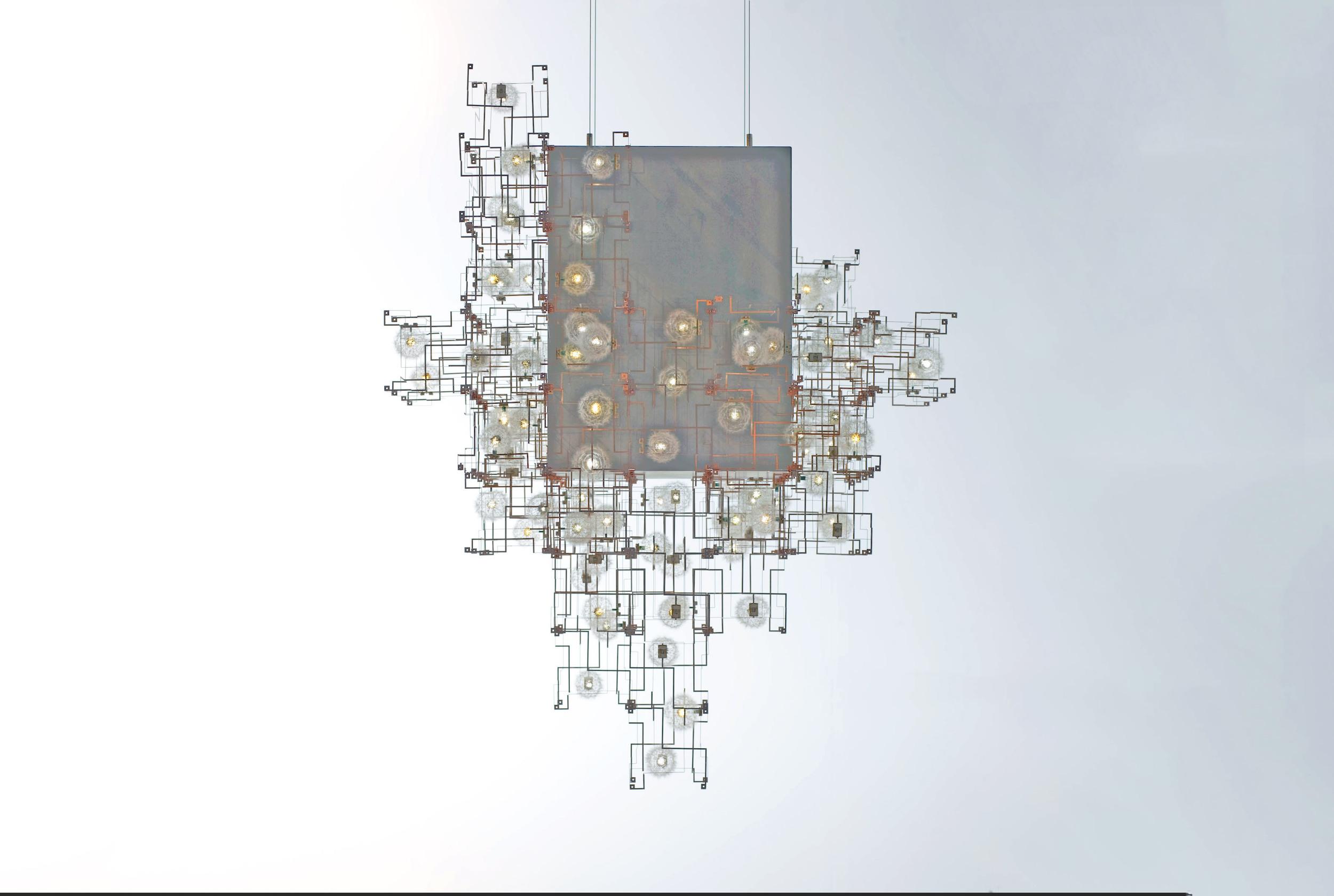 Fragile Future concrete Chandelier, 2011, V & A Collection, winner of the Pavilion Art & Design London Prize