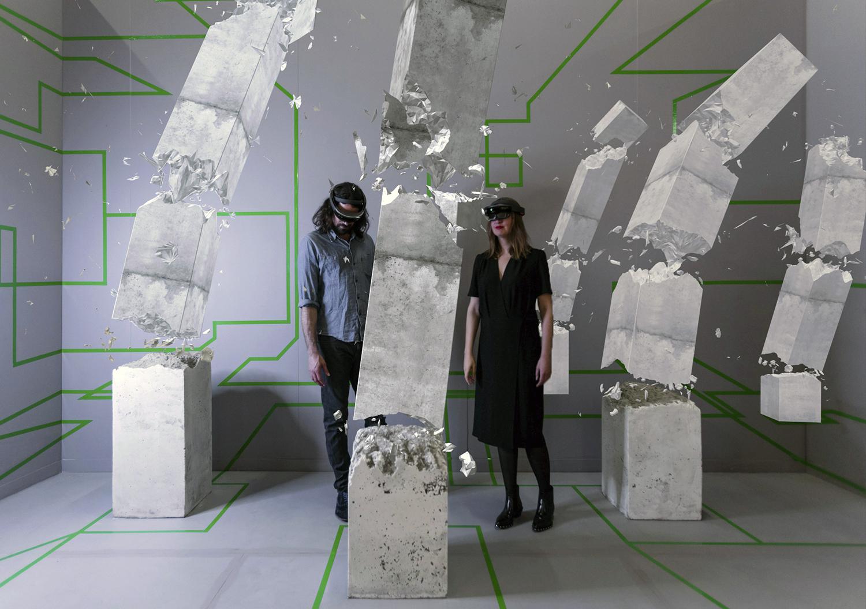 Mixed realty seen through the Microsoft HoloLens,
