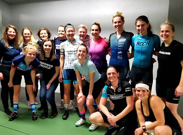 Last night was about the power of community. Regardless of club, team or kit, we came together. We pushed each other. We encouraged and supported one another.  Our first women's event was a huge success! THANK YOU to all the women who rode with us - either @digdeepcyclingfitness or online, and to everyone else who came to the social! We are excited to continue to grow our community of strong women this season.  Outdoor ride information and season launch party information coming soon! Let's do this! #torontohustlewomen