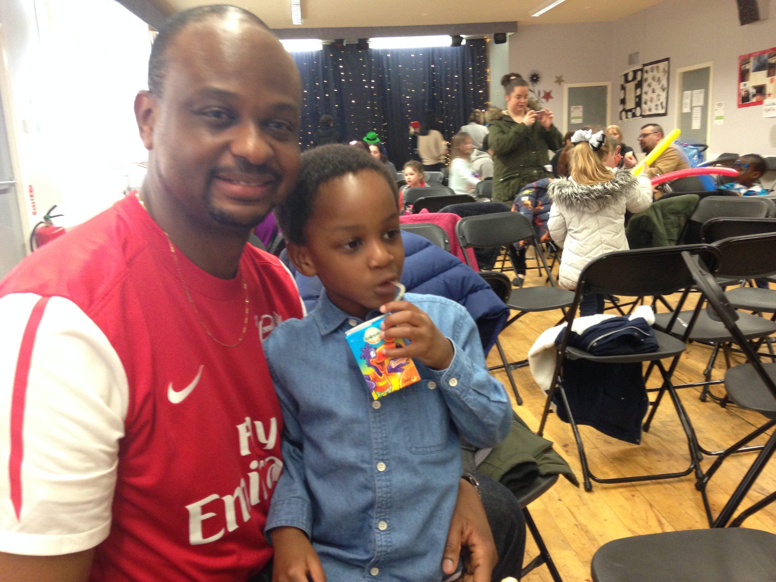 Chuks and his son