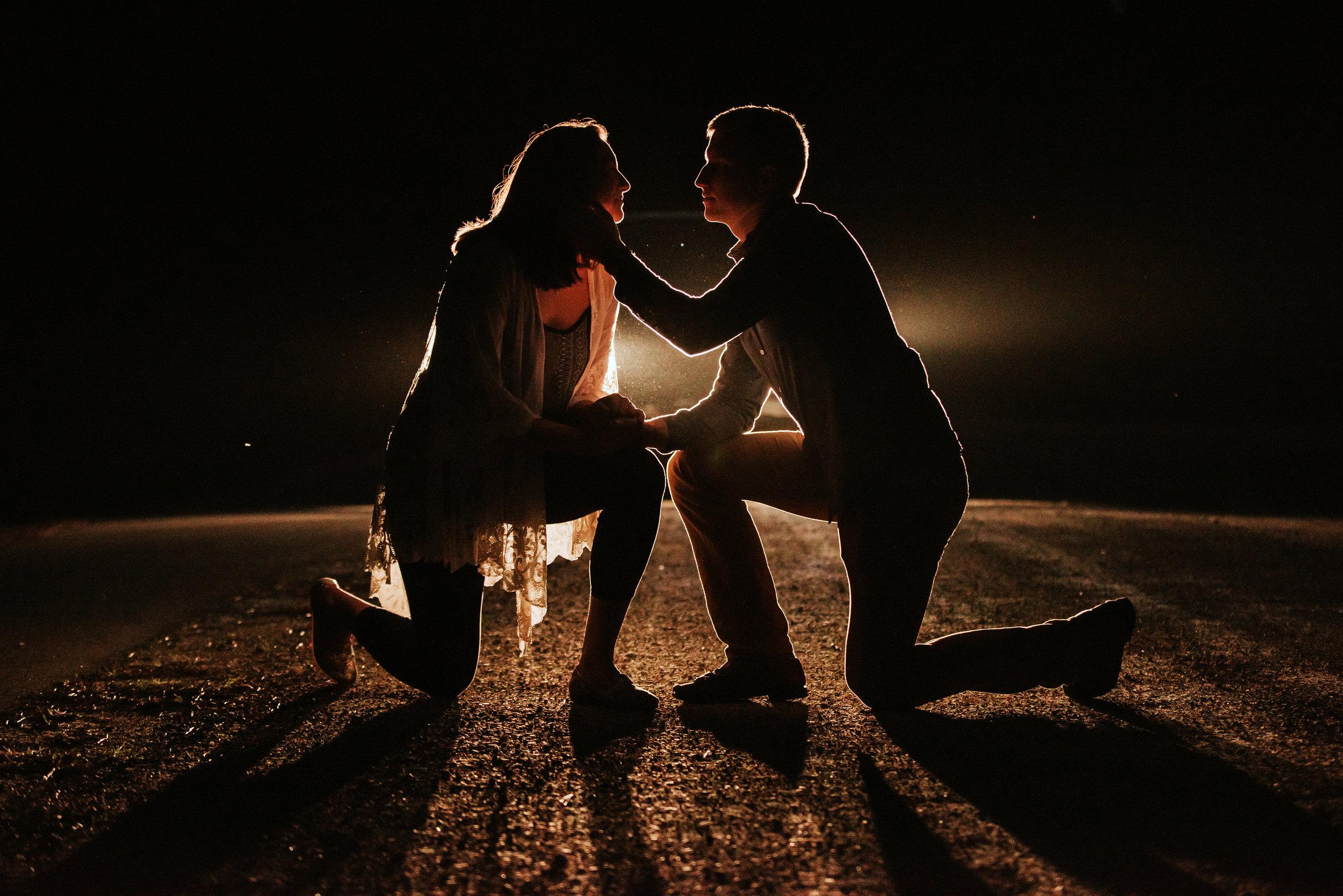 Night Engagement Photography