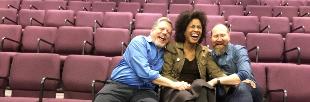 Azuka Theatre Producing Artistic Director Kevin Glaccum, Founder and Director of  How We Got On  Raelle Myrick-Hodges, and Co-Founder & Marketing Director Mark H. Andrews
