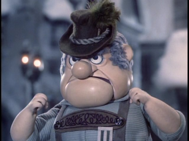 Burgermeister Meisterburger, overseer of the Sombertown Toy Prohibition, ca. early 1900s