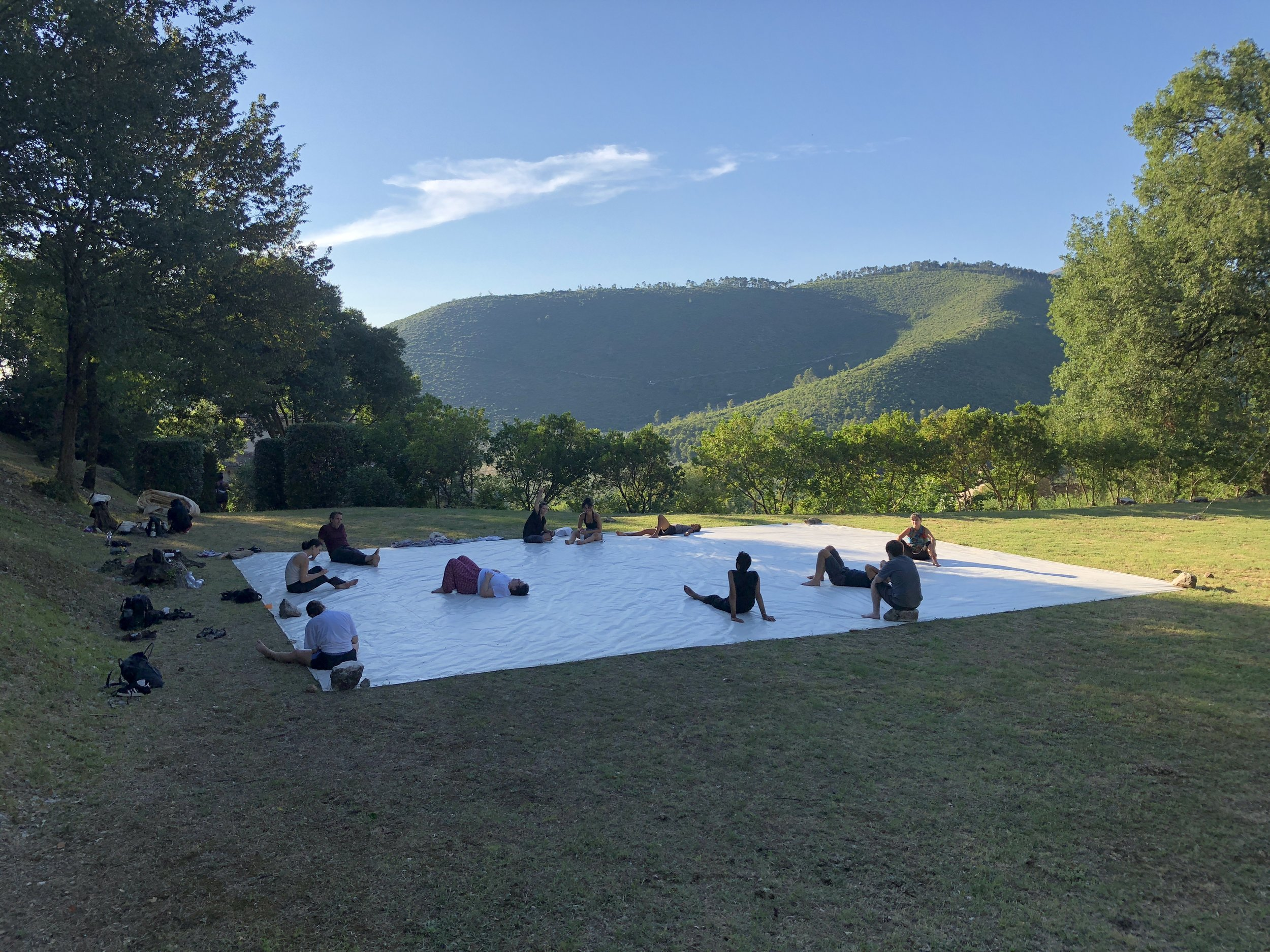 The stunning setting for a movement class at LaMaMa