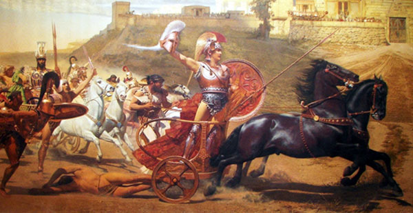 The Trojan War begins. Or, ends, for that guy on the ground. - Lucas