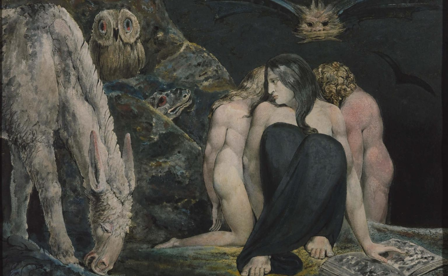 William Blake's  The Night of Enitharmon's Joy , possibly alluding to the Three Fates of Greek myth