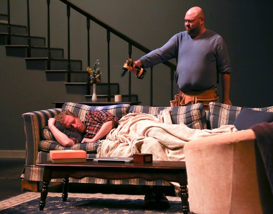 Chris J. Handley and Joshua Robinson in PROSPECT HILL, by Bruce Walsh, at Indiana University Theatre