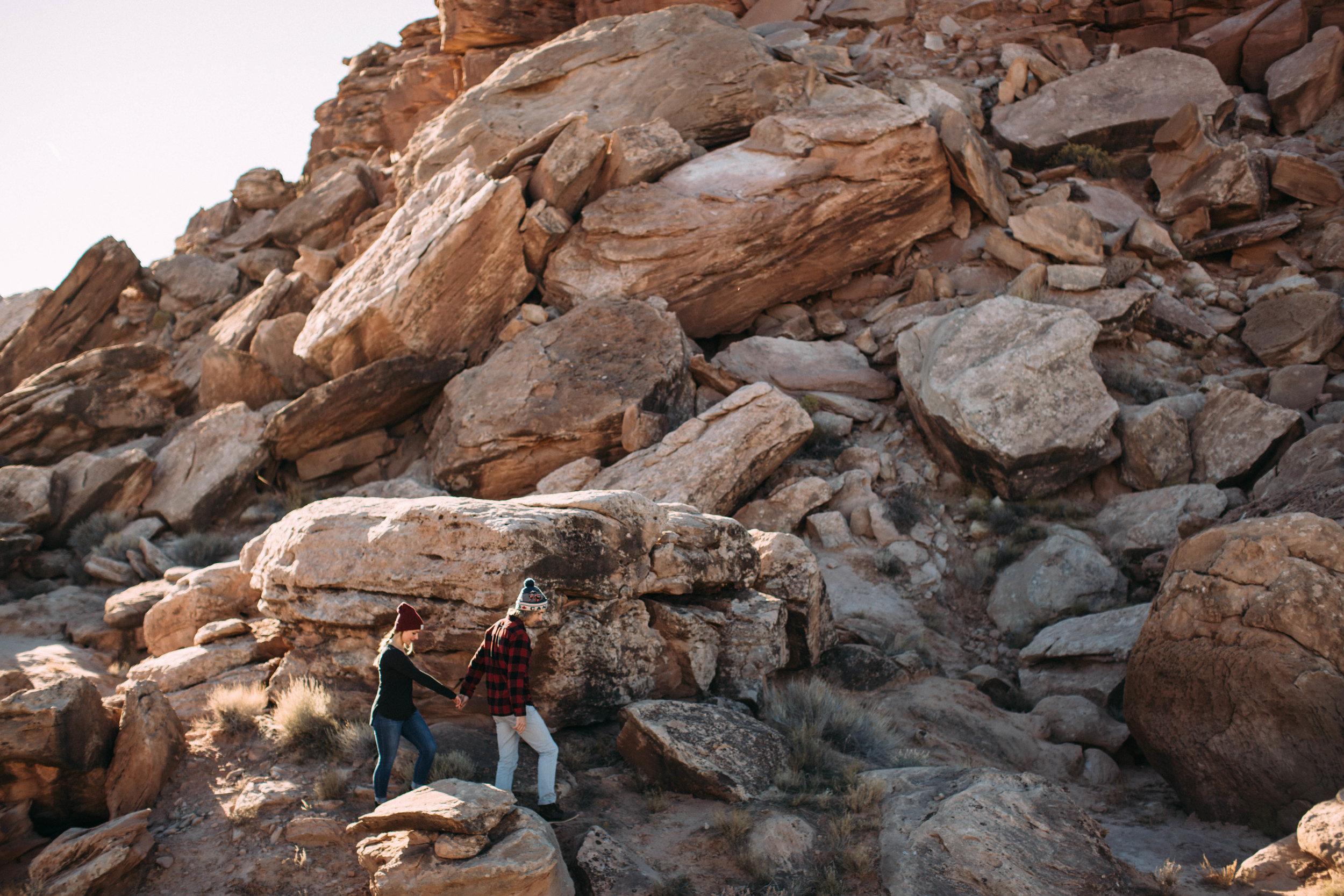 Engaged-Couple-Hiking-Moab.jpg
