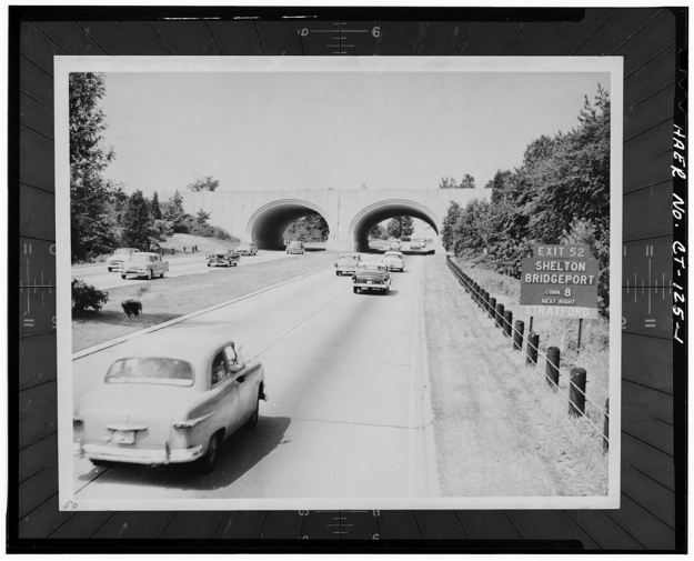 Merritt Parkway,  Nichols-Shelton Road Bridge, Fairfield County, CT (ca. 1940s)