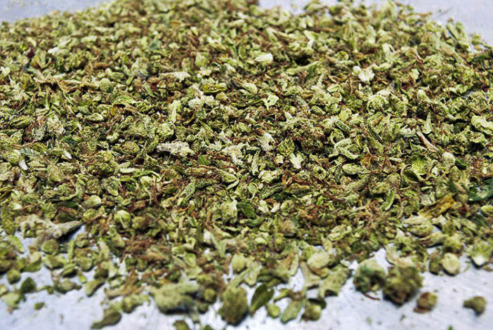 Trim is a mixture of popcorn bud and sugar leaf and ultimately produces a mid shelf but still super clean extract product. -