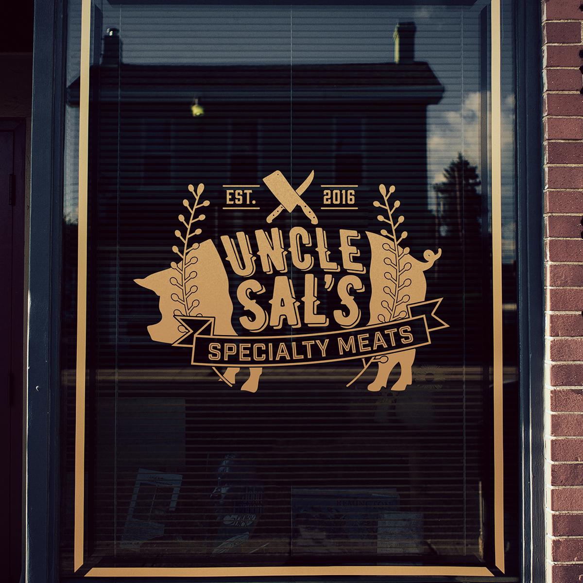 Sample Butcher Shop Window Mock-up
