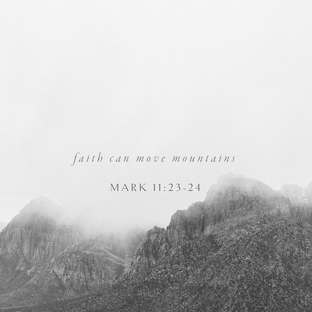 "I read this scripture this morning, and it was such a beautiful reminder that God is faithful. He heals and restores our broken hearts, He is our heavenly and loving Father.⠀⠀⠀⠀⠀⠀⠀⠀⠀ ""Truly I tell you, if anyone says to this mountain, 'Go, throw yourself into the sea,' and does not doubt in their heart but believes that what they say will happen, it will be done for them. Therefore I tell you, whatever you ask for in prayer, believe that you have received it, and it will be yours""⠀⠀⠀⠀⠀⠀⠀⠀⠀ ⠀⠀⠀⠀⠀⠀⠀⠀⠀ How powerful it is the truth, the word of God, right there, The Lord is the only one, ONLY that can move our big mountains because we can't do it by ourselves. It is not in our own power. ⠀⠀⠀⠀⠀⠀⠀⠀⠀ ⠀⠀⠀⠀⠀⠀⠀⠀⠀ Have you asked God to move your mountains?⠀⠀⠀⠀⠀⠀⠀⠀⠀ ⠀⠀⠀⠀⠀⠀⠀⠀⠀ Claim it, with all of your heart, HE will answer your prayers. The Lord is faithful 🙏⠀⠀⠀⠀⠀⠀⠀⠀⠀ 📷@carographystudios"