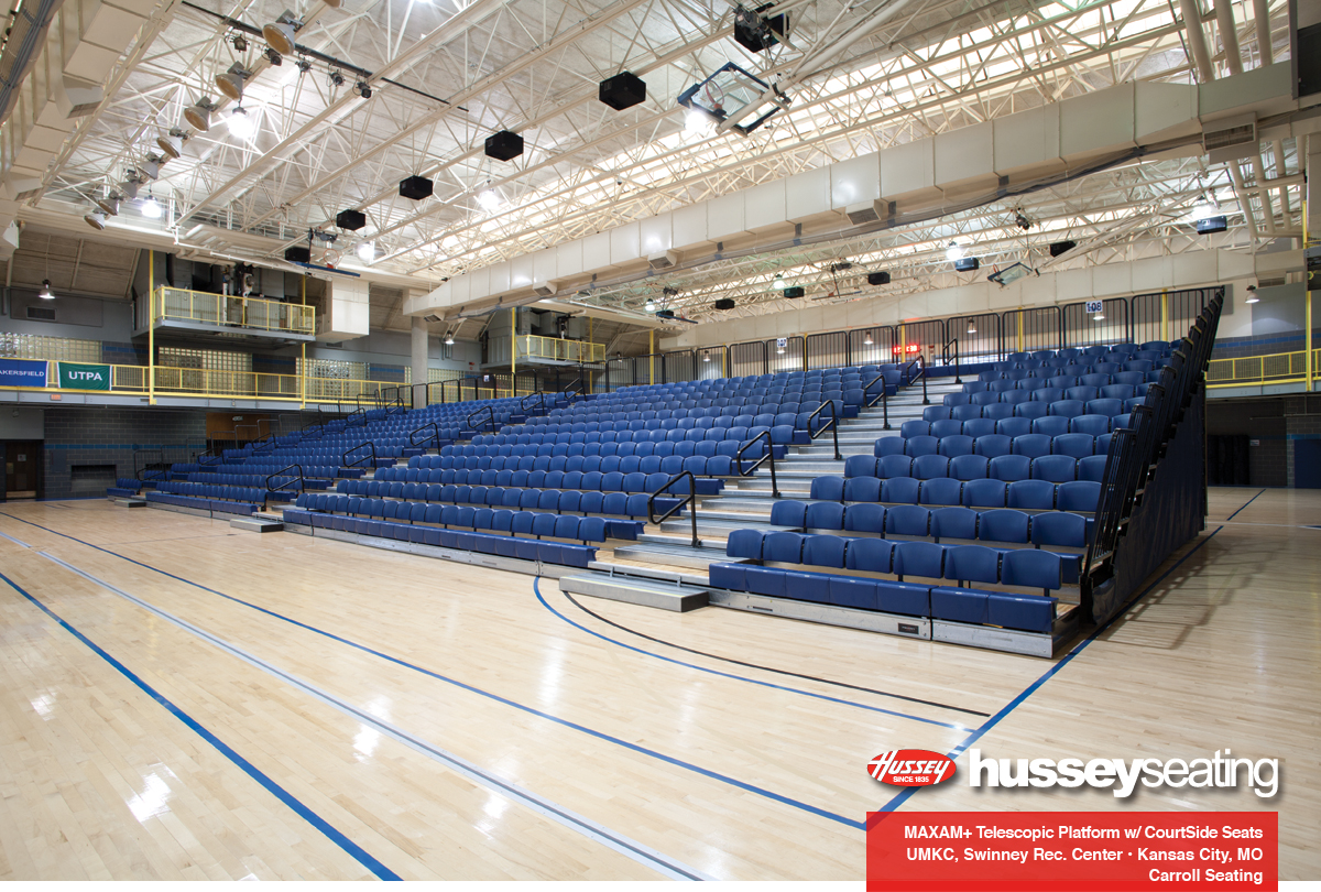 Courtside seats with contour backrests and flexrow