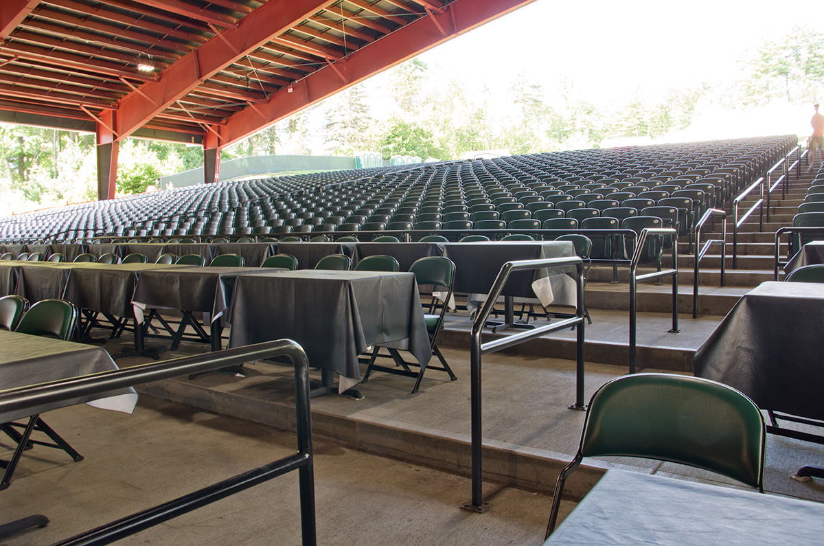 Increased capacity at performance venue