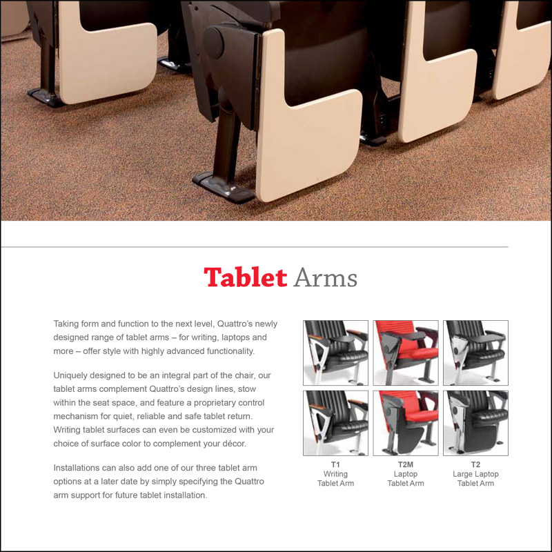 Quattro Tablet Arms