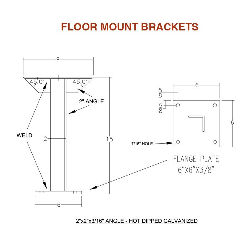 Floor Mount Brackets