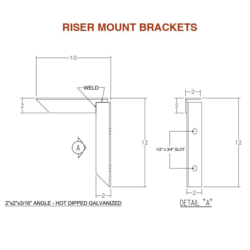 Riser Mount Brackets