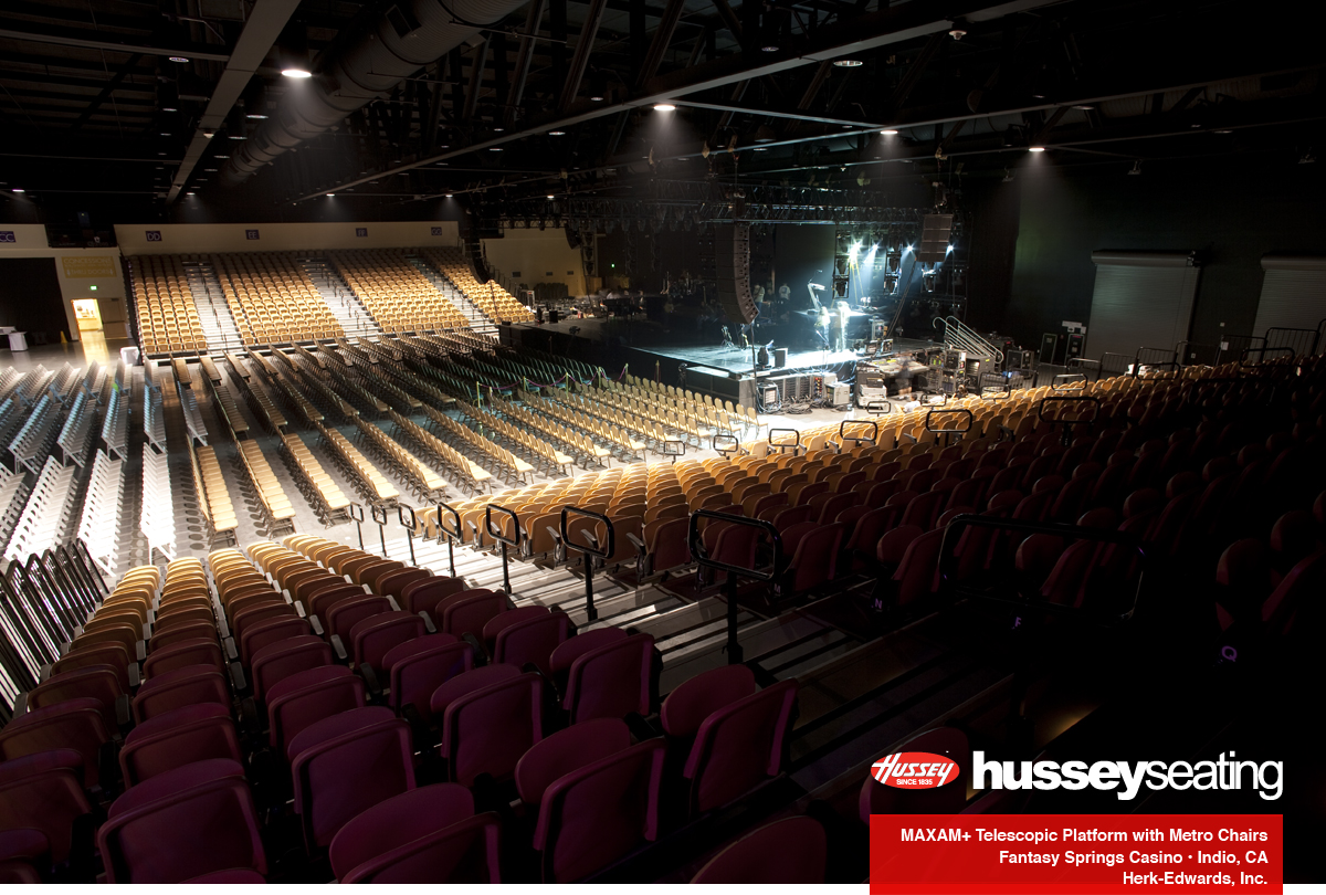 Fantasy Springs Casino Hussey Seating Company