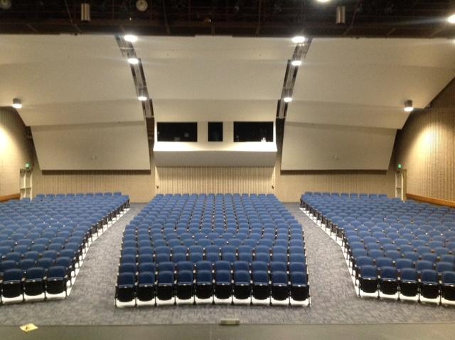Quattro Auditorium seating in Utah High School