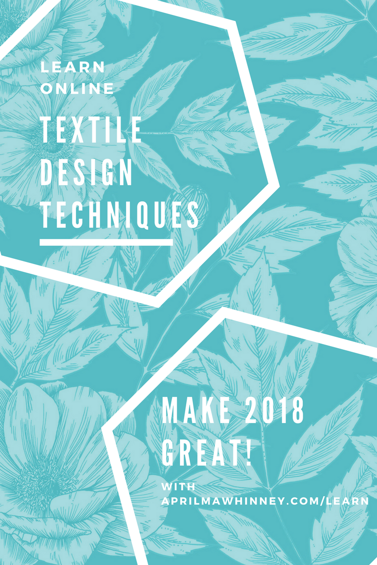 If you have always fancied being a Textile or Surface Pattern Designer, pop over and take some of APRIL MAWHINNEY'S Skillshare classes | 2 months free | Skillshare Teacher | learn online | Illustration | Textile Design