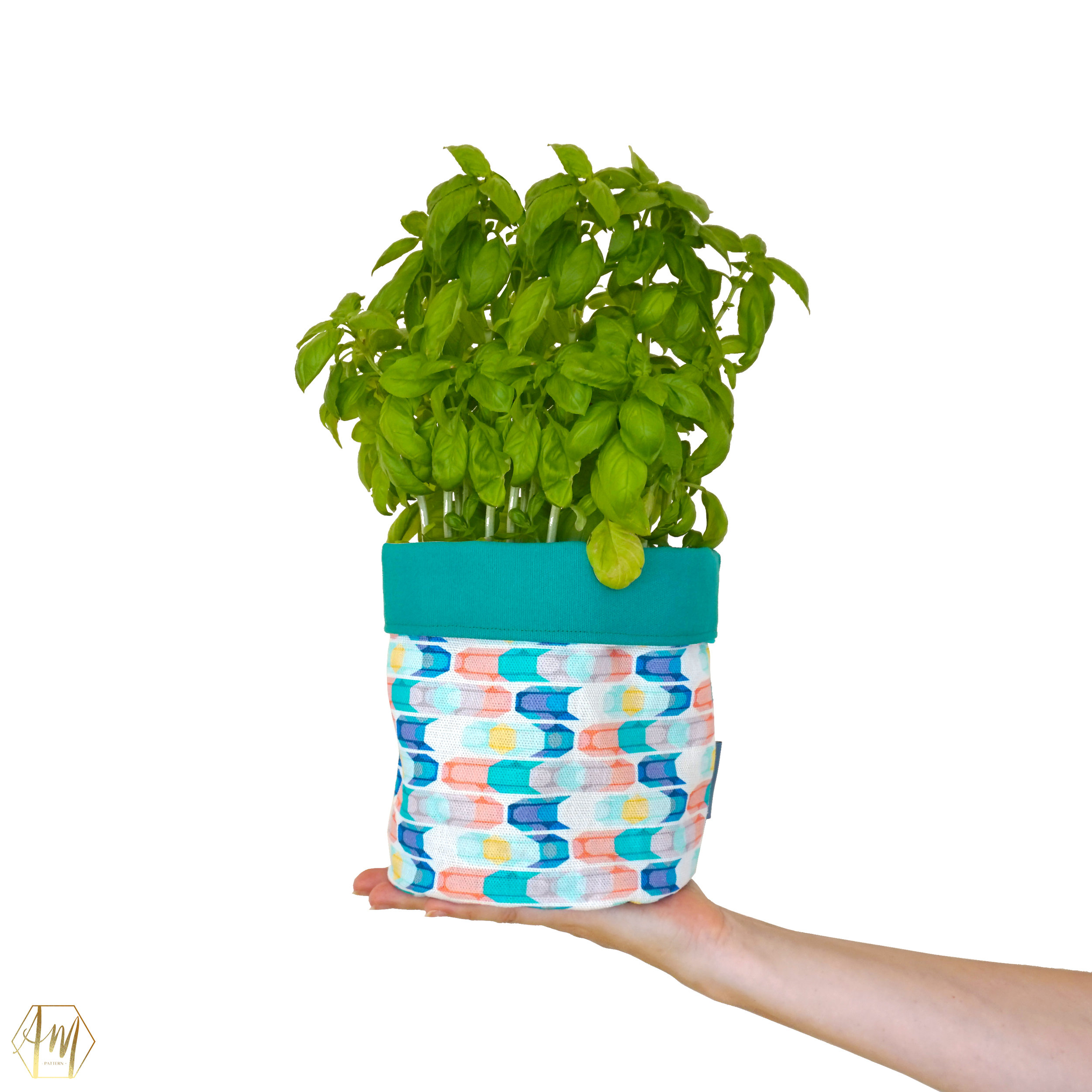 STRANGFORD LOUGH LINEN PLANT POT COVERS | APRIL MAWHINNEY DESIGN STUDIO | ILLUSTRATION | IRISH DESIGN | NORTHER IRELAND DESIGN | PRINT STUDIO | GIFTWARE | HOME DECOR