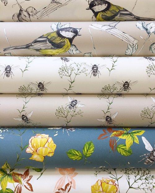 Rachel Reynolds   UK Designer Maker   Textile Designer   Fabric   Wallpaper   Lampshades