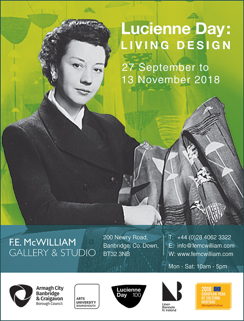 Lucienne Day | Exhibition | F. E. McWilliam Gallery and Studio | Textile Design |