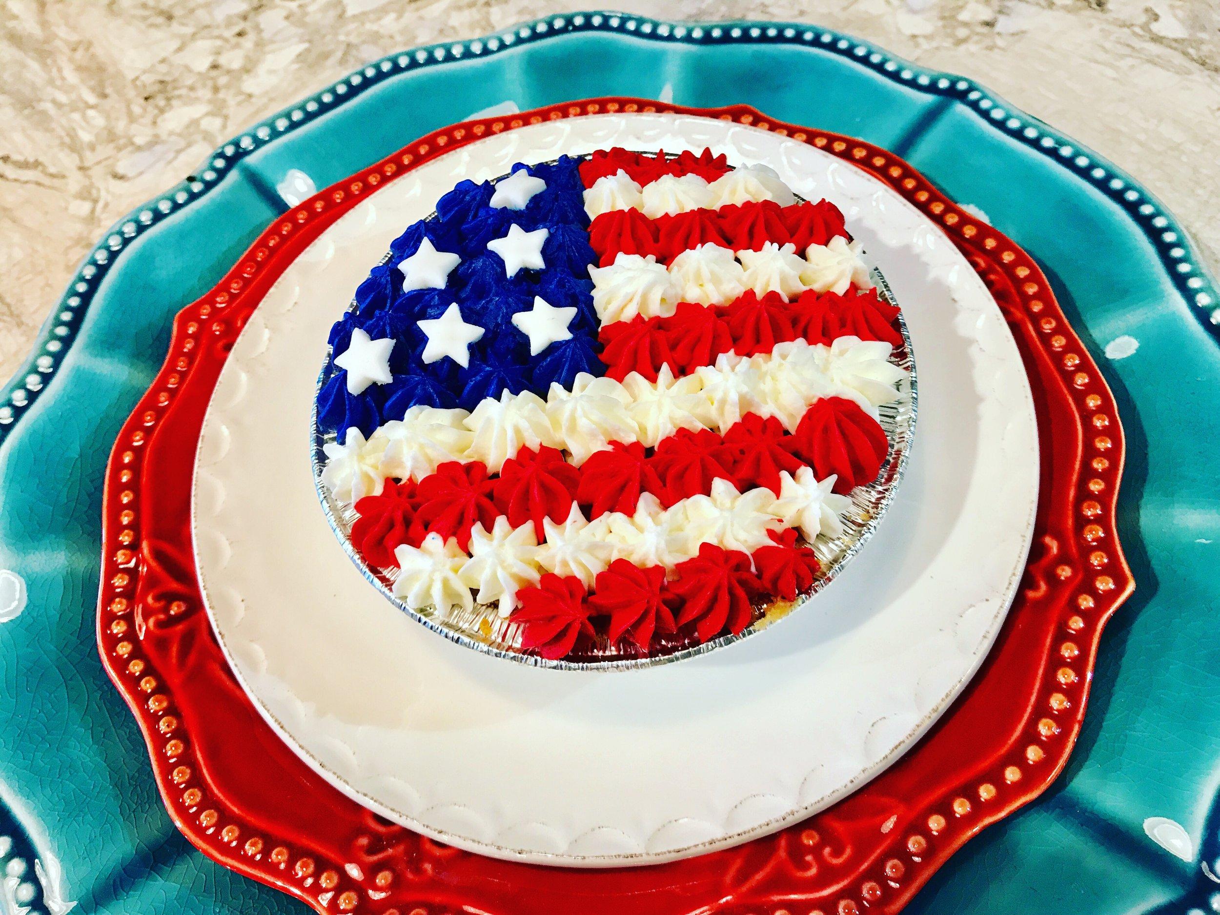 Patriotic PB&J Pie
