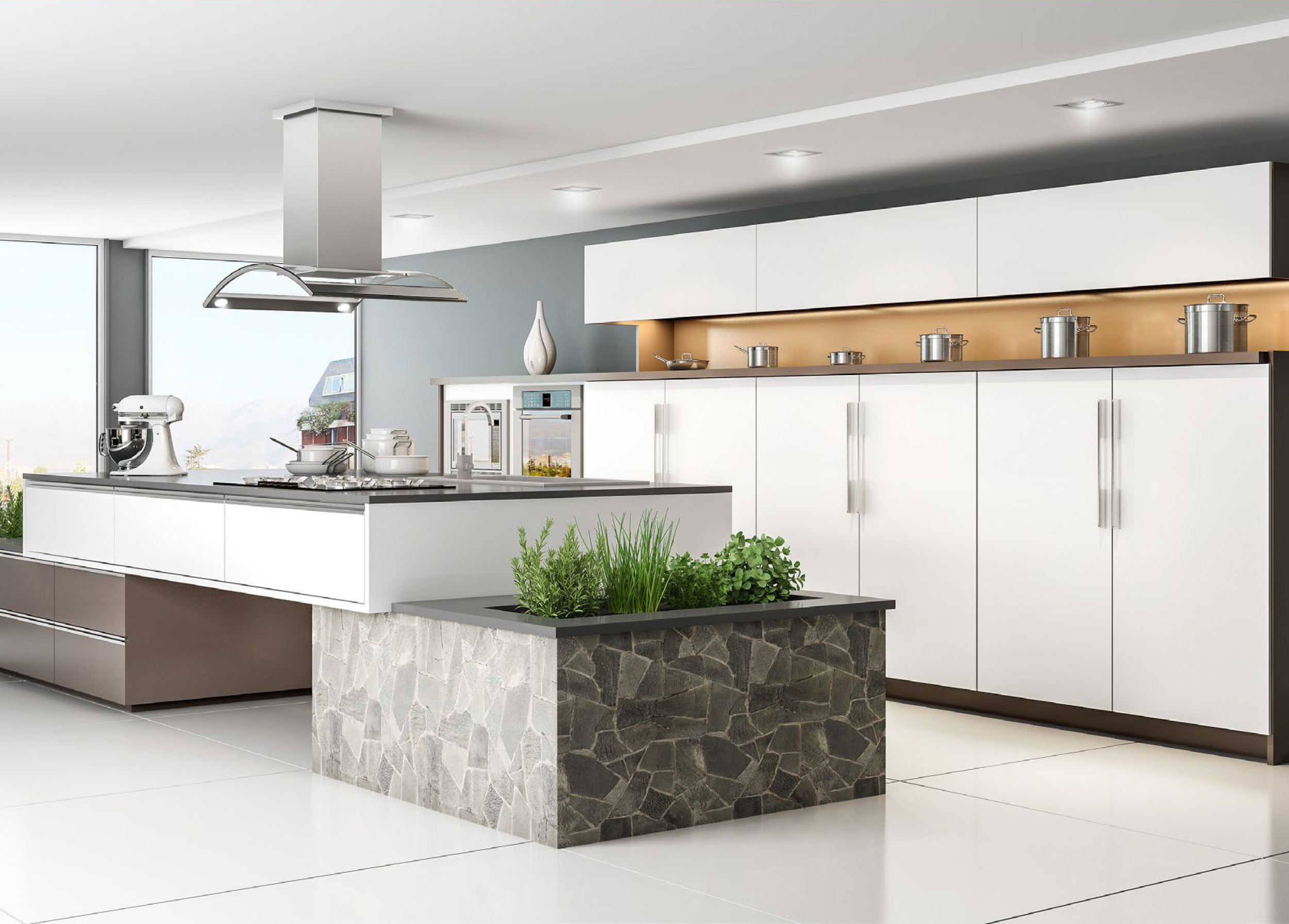 CGI Kitchen Scene Application Photography