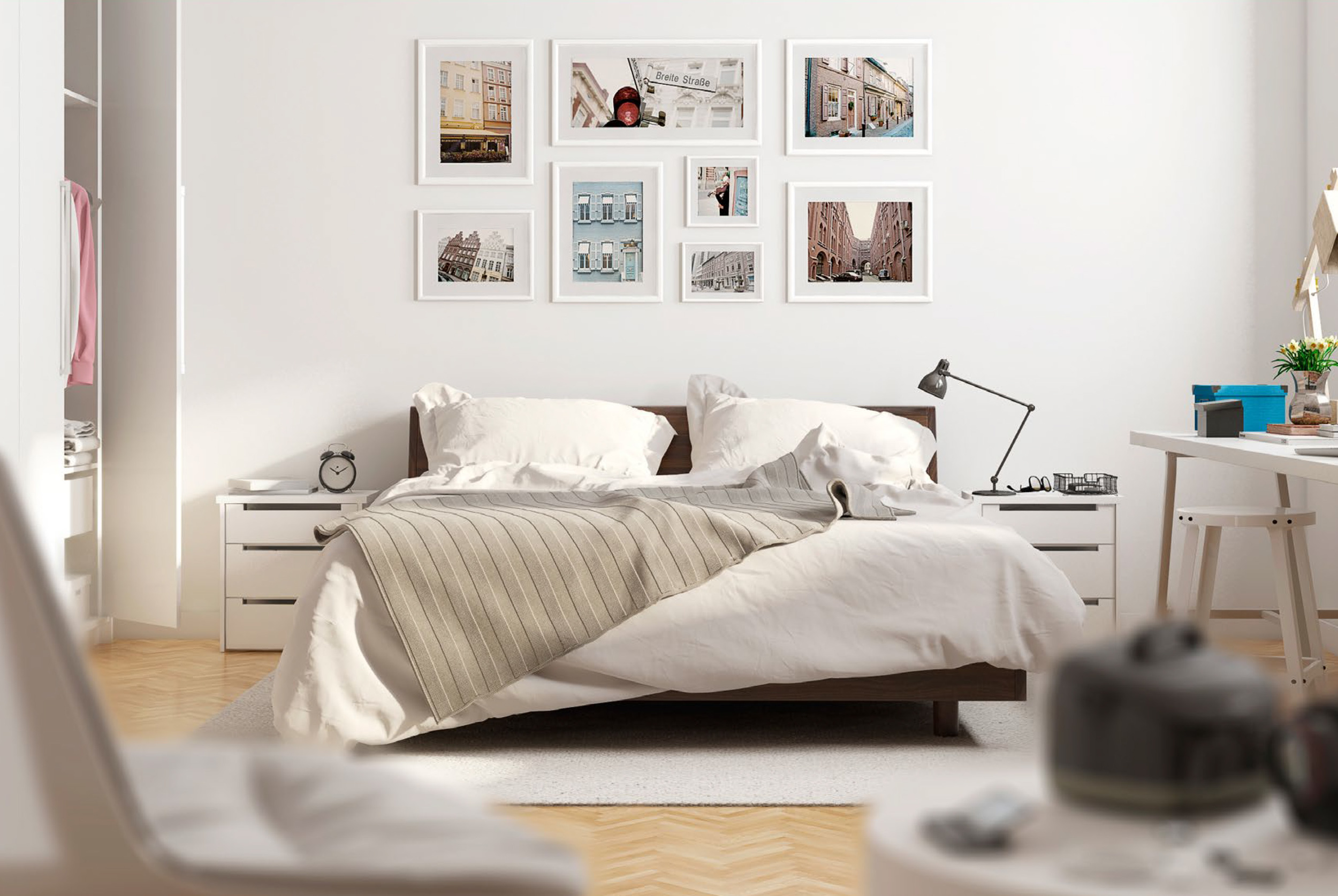 CGI Bedroom Set Scene Photography