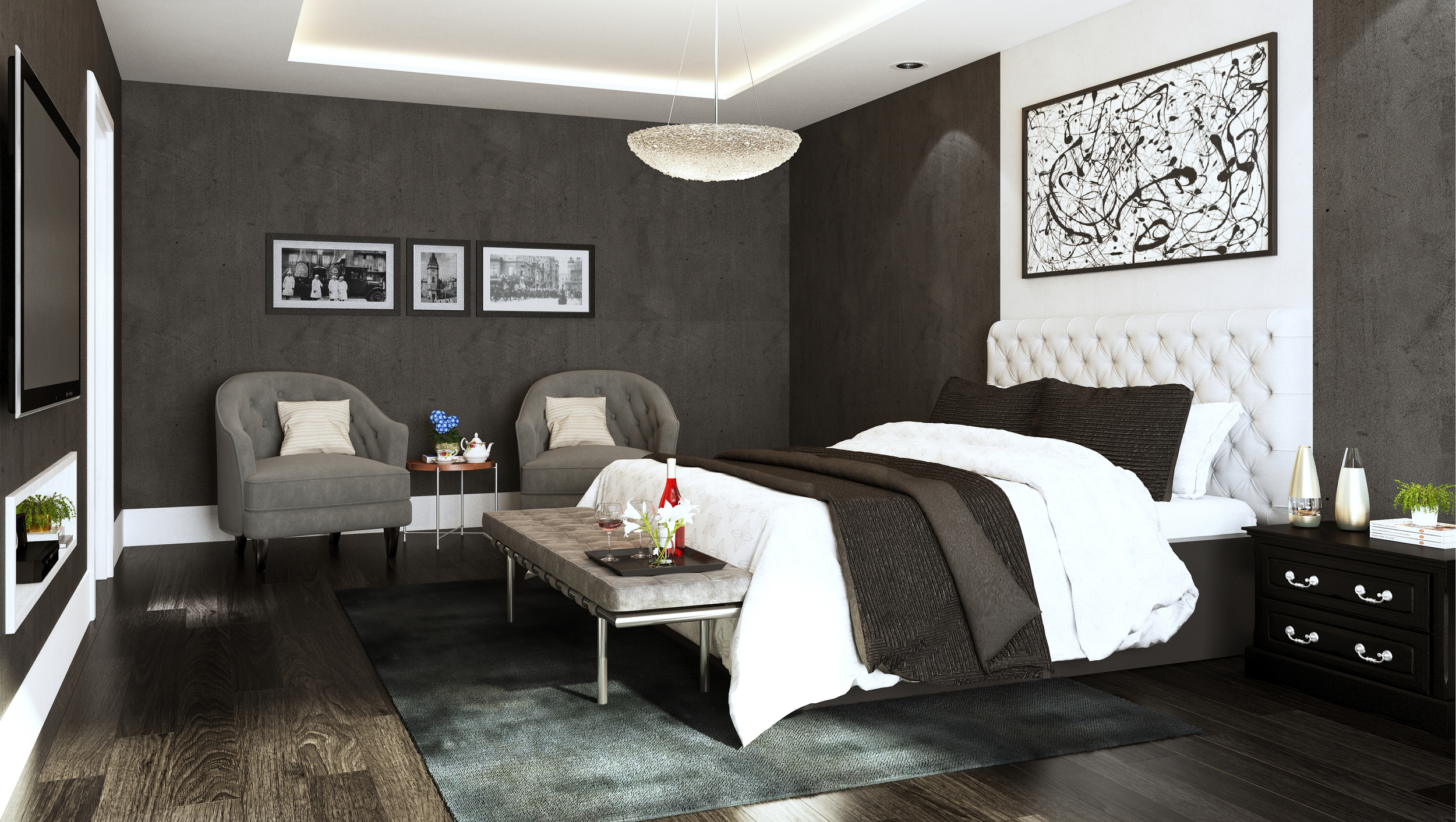 CGI Bedroom Image Photography