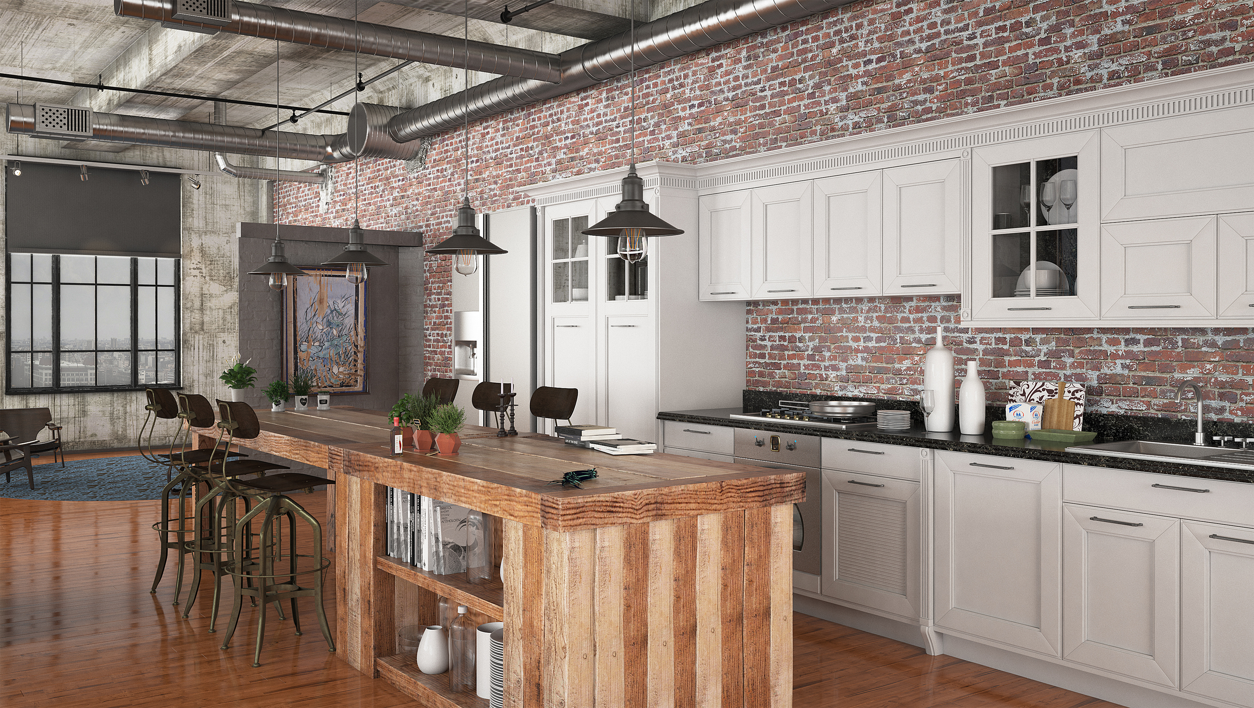 CGI Kitchen Lighting Application Photography