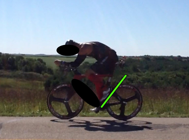 """Too much toeing action at the top of the pedal stroke due to too long of a crank arm. Trying to """"get over"""" the hump of the stroke."""